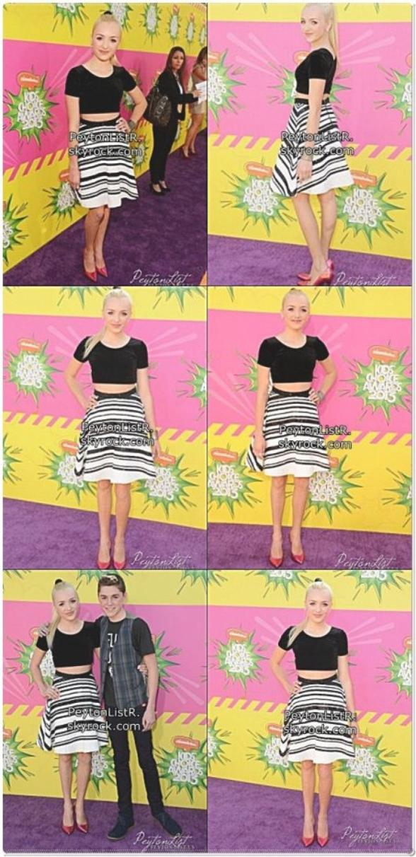 23/03/13 : Peyton est allée à Nickelodeon 26e Choice Awards Enfants à l'USC Galen Center à Los Angeles, en Californie.