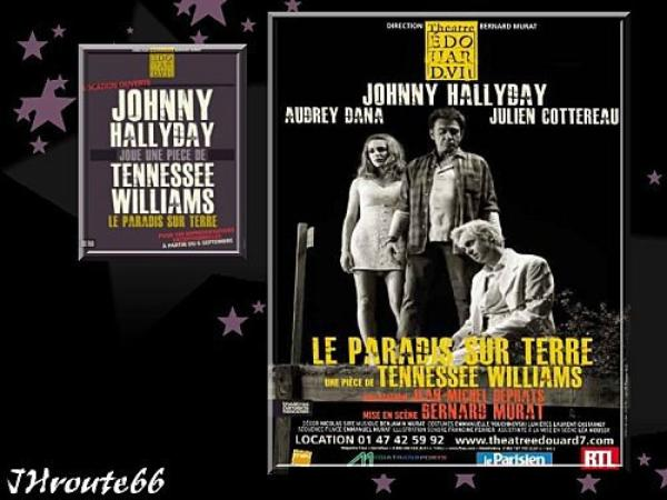 JOHNNY  HALLYDAY.  SUR  LES  PLANCHES.......