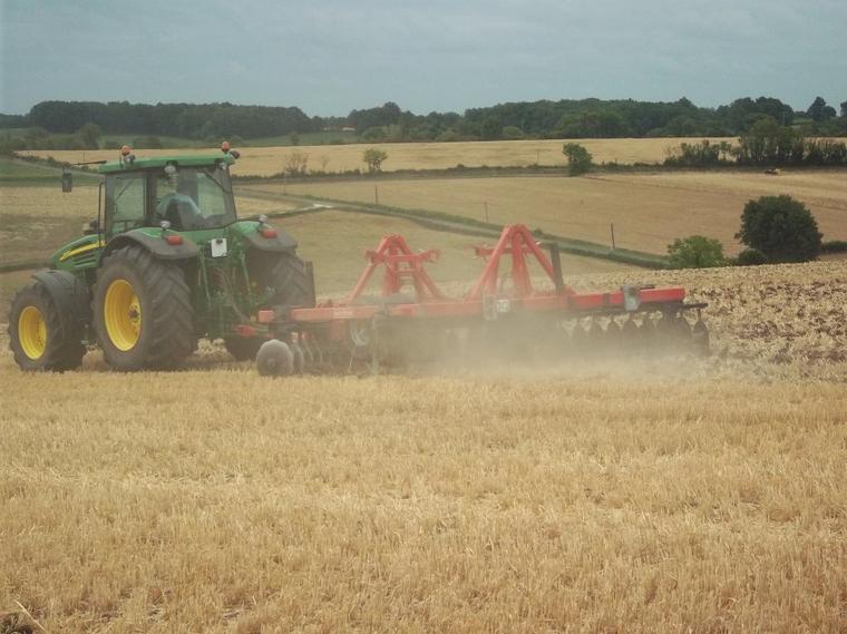jd 7820 +crover crop quivogne