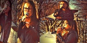 Mélina était présente au concert du Téléthon au parc Borely a Marseille.