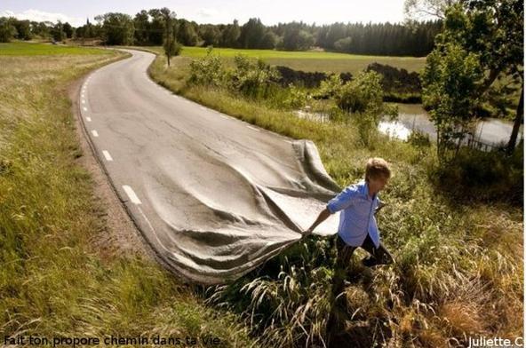 Trace ta route en gardant la pech'