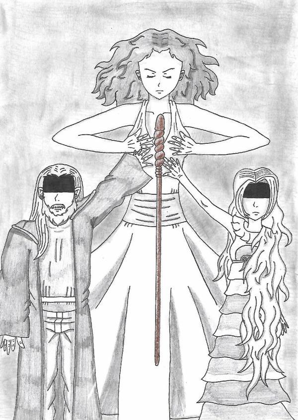 Harry Potter et la sorcière de Jade (dessin concours Mahe-Trafalgar)