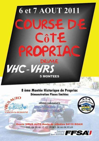 Course de côte de Propiac 2011