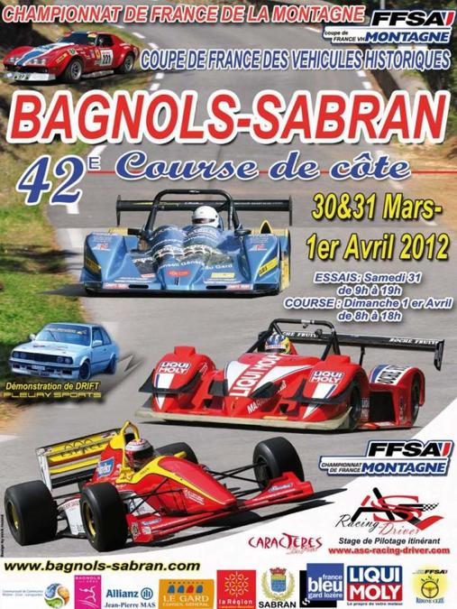 Course de côte de Bagnols-Sabran 2012
