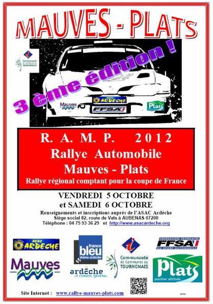 Rallye Mauves-Plats 2012