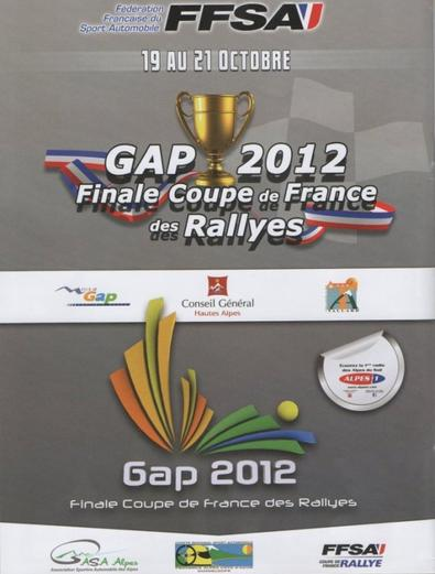 Finale coupe de France des rallyes Gap 2012