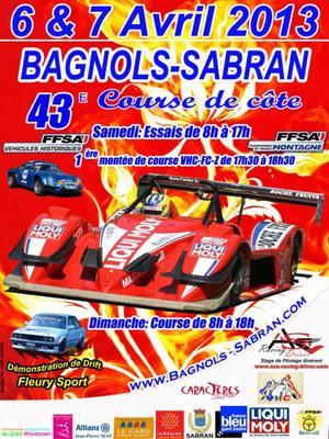 Course de côte de Bagnols-Sabran 2013