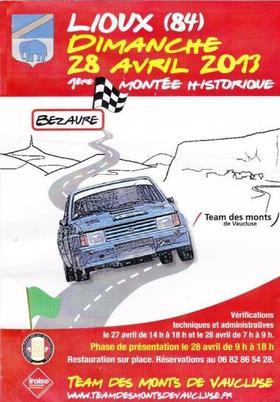 Montée historique de Lioux 2013