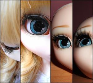 Comparaison vite fait: avant / après eyelashes