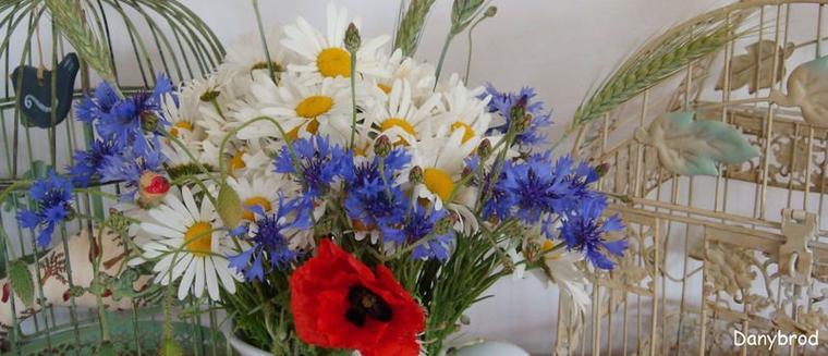 un joli bouquet aux couleurs de la France