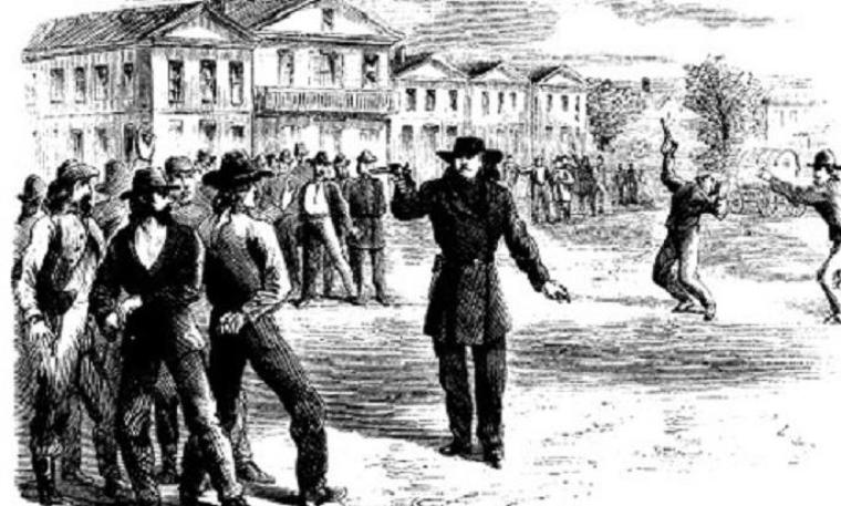 le saviez vous? la fusillade entre Will Bill Hickok et Davis Tuff
