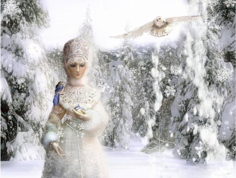 legende russe :Snégourotchka et Ded Moroz
