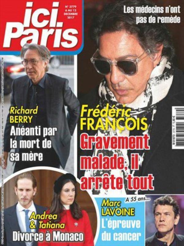 Frédéric François - Gravement malade...