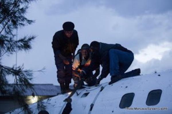 RDC: le bilan du crash de l'avion de CAA à Goma revu à la hausse, 7 morts