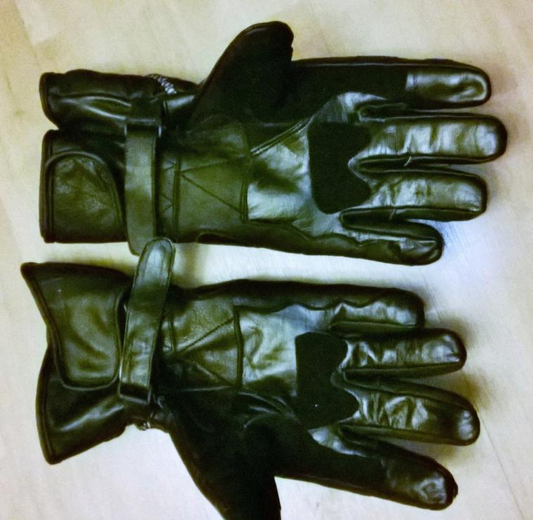 La paume des gants...