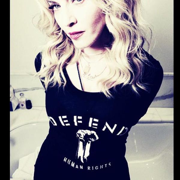 Madonna on instagram about defend paris
