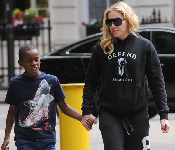 Madonna & David à Londres 27/07/13