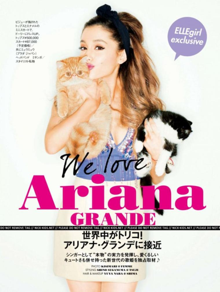 ARIANA GRANDE in Elle Girl