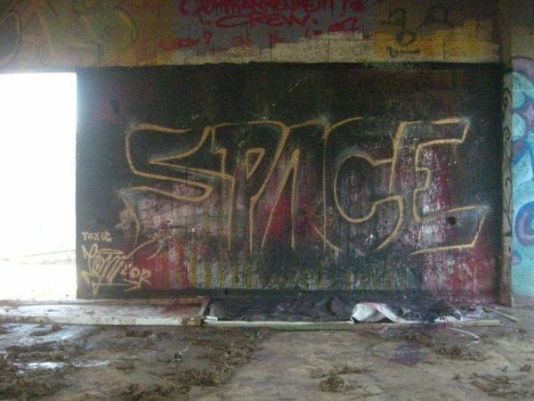 space graffiti