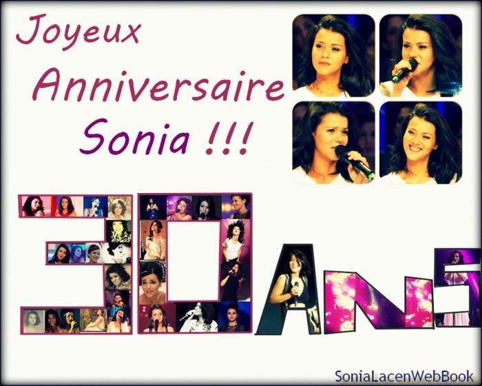Anniversaire: 30 ans de Sonia