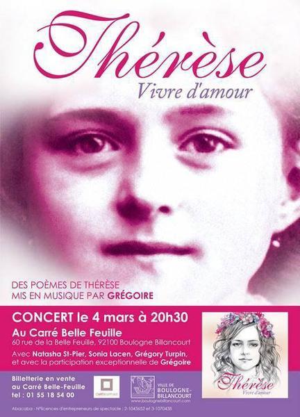 Concert, Thérèse - vivre d'amour, mars 2014