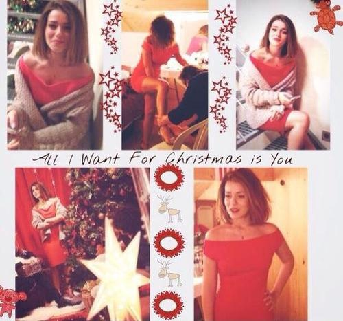 "Tournage du clip ""All I want for Christmas is You"""