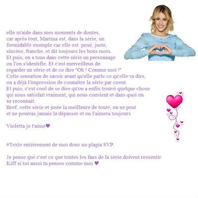 Pour toutes les Fans de la série Violetta... remixez♥
