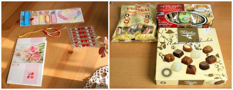 des cadeaux pour mon anniversaire de la part de Cécile