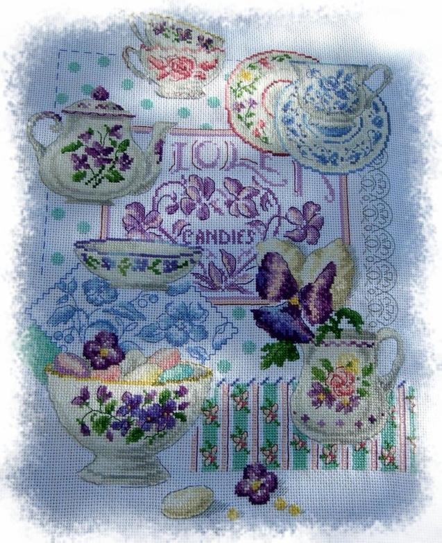 Crockery and Violets