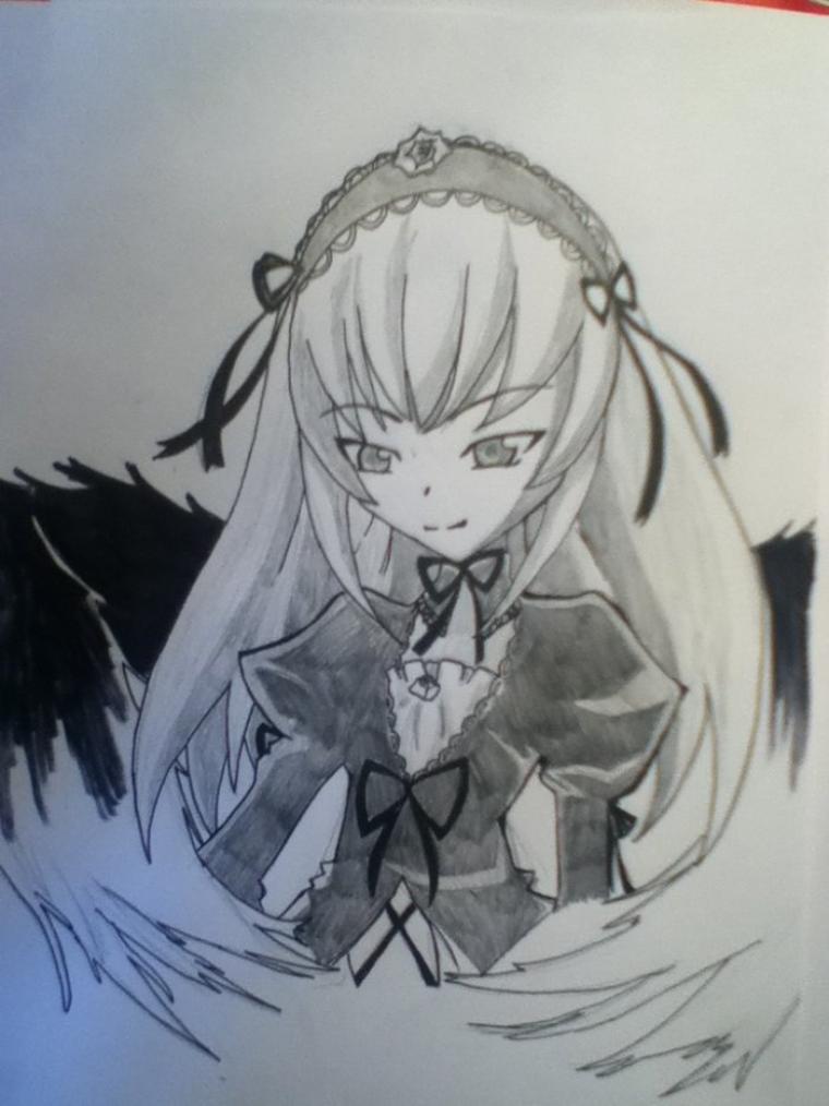 Dessin Suigintou de Rozen Maiden