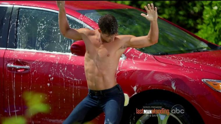 Parker Young as Ryan Shay shirtless in Suburgatory ..