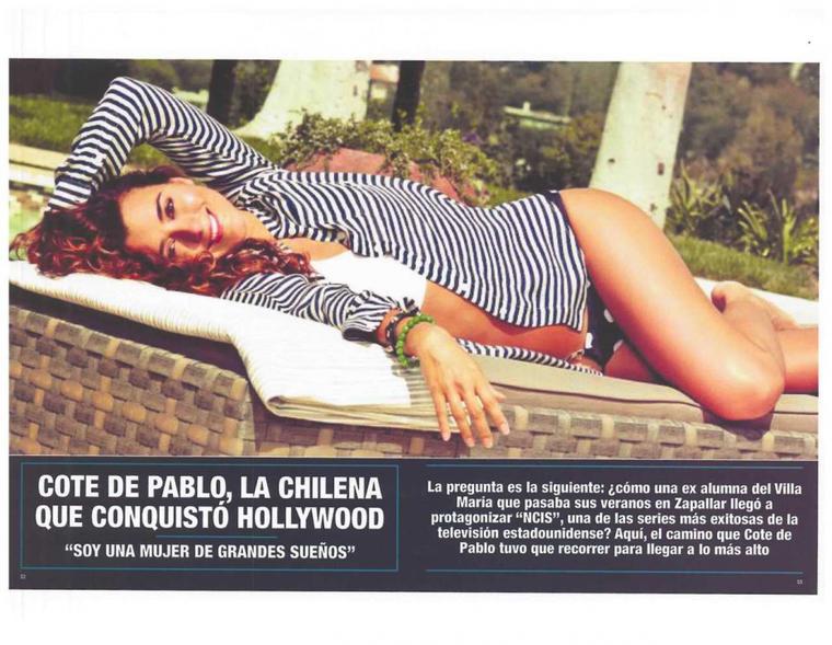 Cote a la Une de IHOLA CHILE