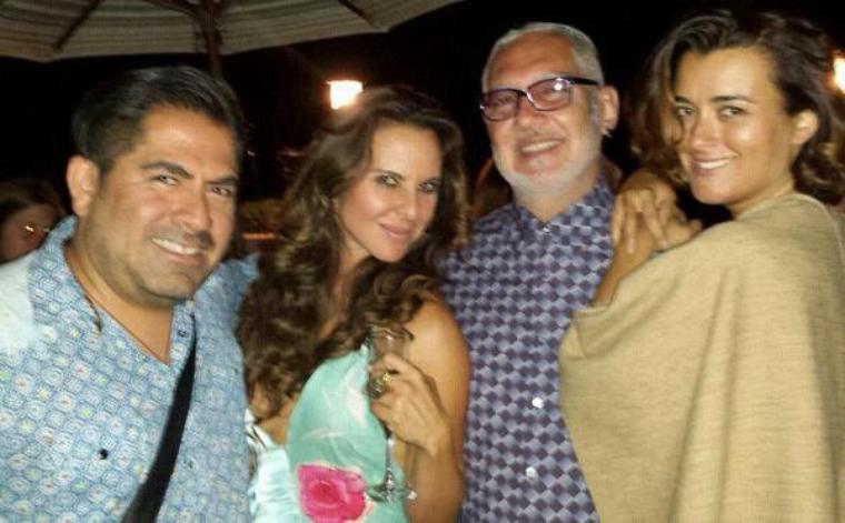 Eliseo Reyna et Cote pendant l'anniversaire de jillian