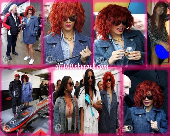 "Apparitions Publiques 12 Juin 2011 Rihanna au ""Grand Prix"" de F1 au Canada"