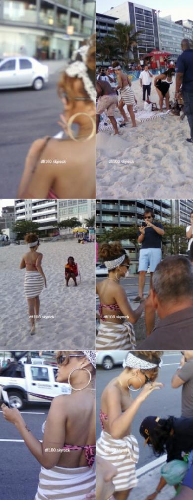 19/09/11 Rihanna à la plage « Ipanema » à Rio de Janeiro