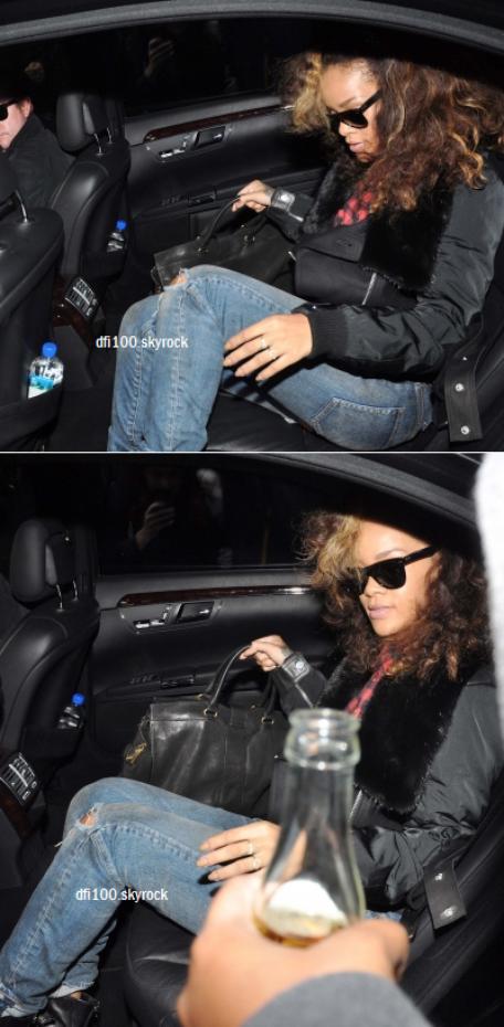 03/10/11  Rihanna quitte l'hôtel « Clarence » à Dublin