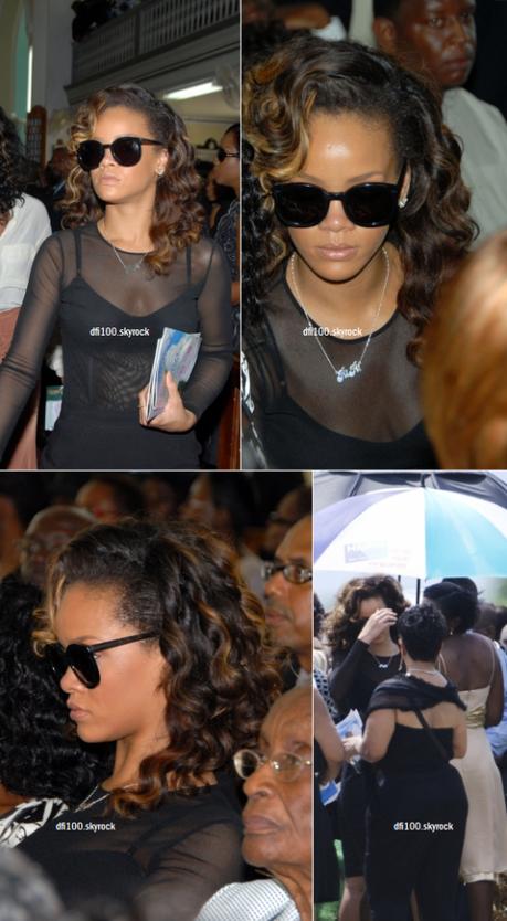 08/10/11 Rihanna et sa mère assistent à un enterrement à La Barbade