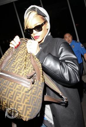 Arrivée de Rihanna à Los Angeles