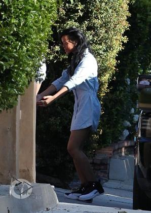 Rihanna rend visite à un ami