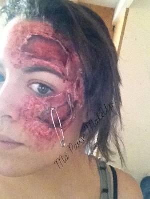 # Maquillage blessures visage (1er essais)