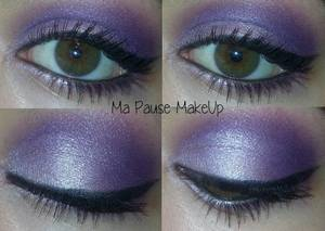 # Maquillage dégradé de violet