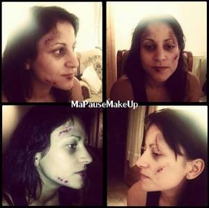# Maquillage blessures sur modèle (n°2)