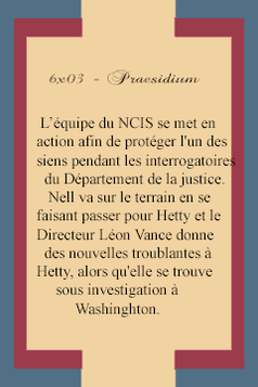 "Ncis Los Angeles  -  6x02  ""Inelegant Heart""   & 6x03 "" Praesidium"""