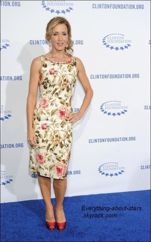 Evénement:    Vendredi 14 octobre, Jessica Alba, Josh Duhamel et Fergie, Sofia Vergara, Felicity Huffman,Rachel Zoe, Lily Collins et Jane Fonda étaient tous présent pour honorer la fondation Clinton