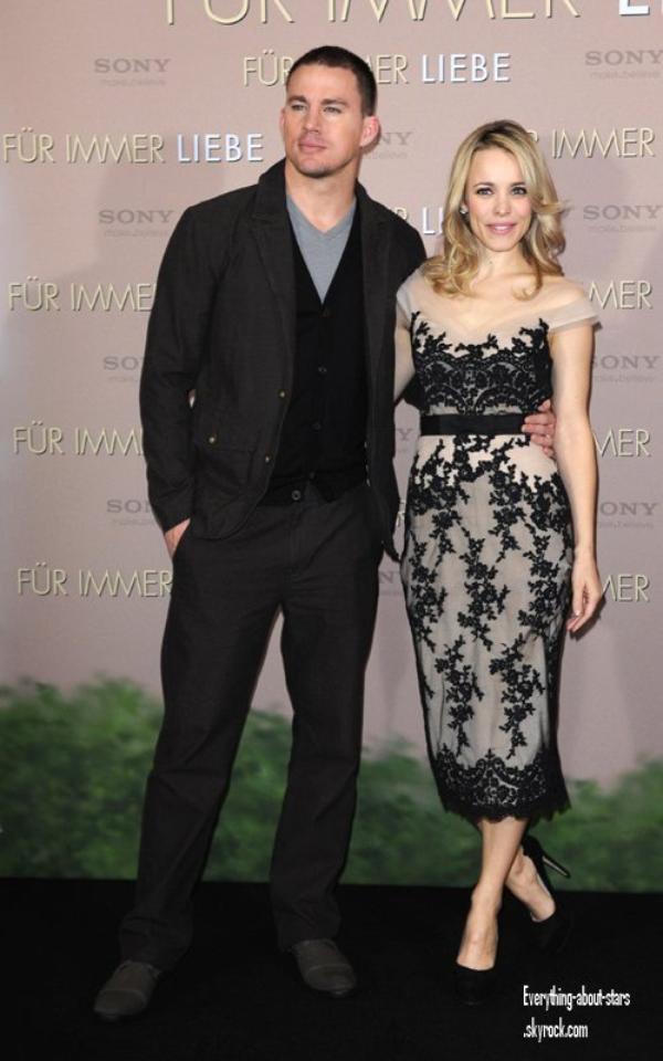 """Evénement: Channing Tatum et Rachel McAdams ont été repérés à un photocall pour """"Le Voeu"""" à Munich   le 20 Janvier 2012"""