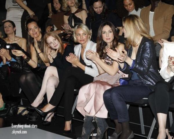 Evénement: Cameron Diaz et Olivia Palermo à la Fashion Week de Paris  le 24 Janvier 2012