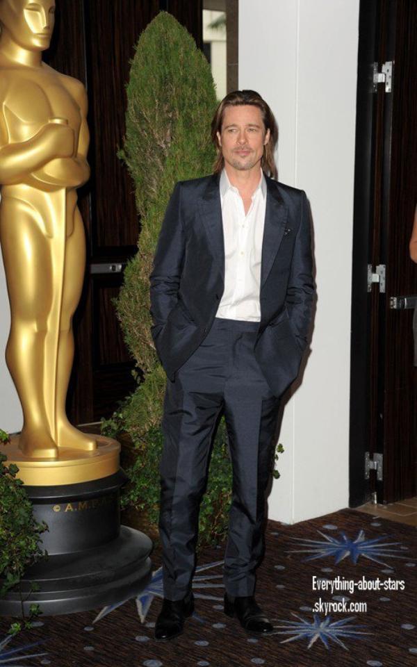 """Evénement: Brad, George et Michelle été présents à l'hôtel Beverly Hilton pour célébrés """"the 84th Academy Awards Nominations Luncheon""""  le 6 Février 2012"""