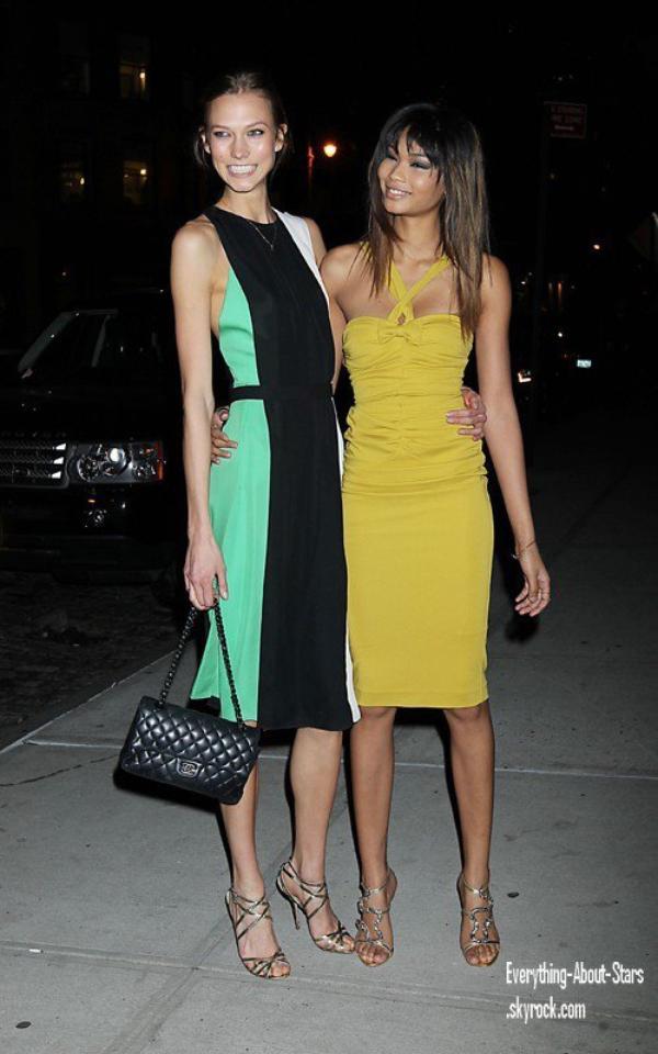 """Evénement: Scarlett, Chanel, Karlie, Solange et Karolina étaient à un dîner de charité """"Benefit for the United Way"""" à New York  le 7 Février 2012"""
