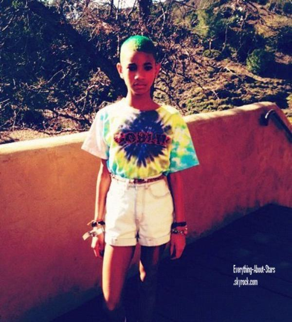 Willow Smith: Fini le blond ! Place au Vert --'