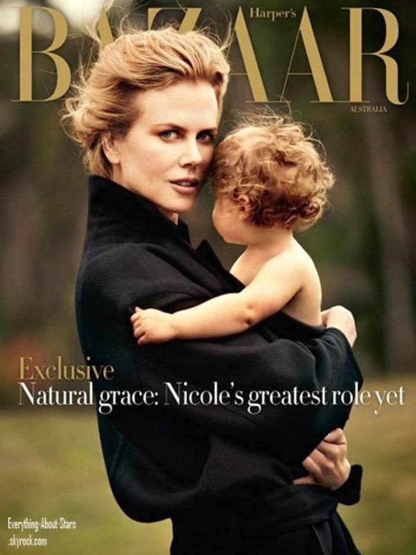 Nicole Kidman en couverture de HARPER'S BAZAAR avec sa fille: